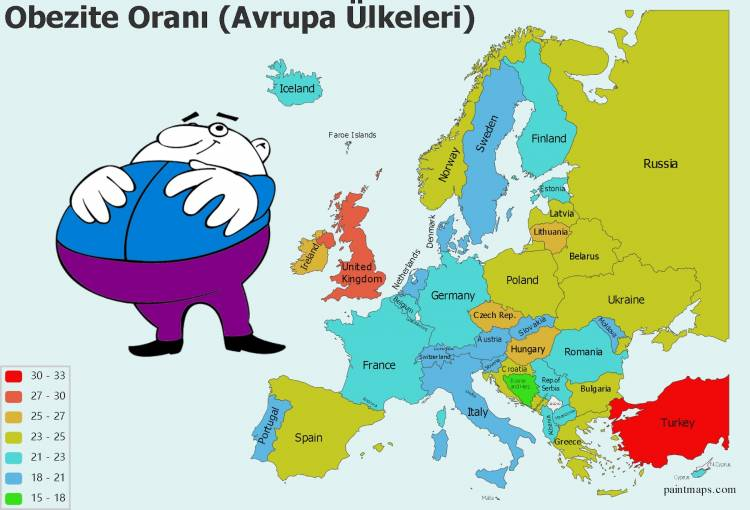 Avrupa'da En Kilolu Ülke Hangisi, Türkiye Kaçıncı Sırada?